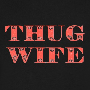 THUG WIFE - Men's V-Neck T-Shirt by Canvas
