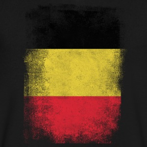 Belgium Flag Proud Belgian Vintage Distressed - Men's V-Neck T-Shirt by Canvas