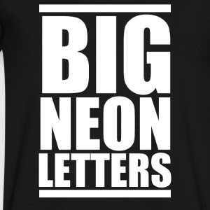 Big Neon Letters - Men's V-Neck T-Shirt by Canvas