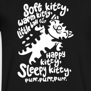 Soft Kitty - Men's V-Neck T-Shirt by Canvas