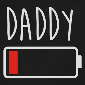 Daddy Low Battery - Men's V-Neck T-Shirt by Canvas
