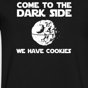 Come To The Dark Side We Have Cookies - Men's V-Neck T-Shirt by Canvas
