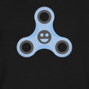Excited Face Fidget Spinner - Men's V-Neck T-Shirt by Canvas
