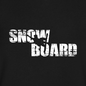 Snowboard - Men's V-Neck T-Shirt by Canvas
