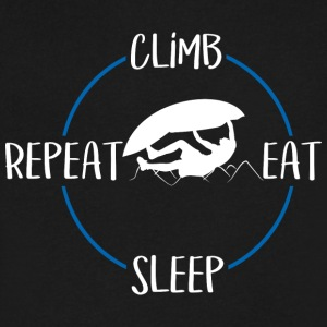Climb, Eat, Sleep, Repeat - Men's V-Neck T-Shirt by Canvas