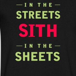 In the streets sith in the sheets - Men's V-Neck T-Shirt by Canvas