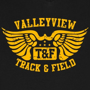 Valleyview T F Track Field - Men's V-Neck T-Shirt by Canvas