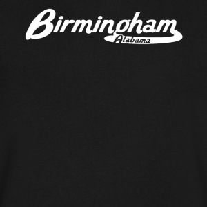Birmingham Alabama Vintage Logo - Men's V-Neck T-Shirt by Canvas