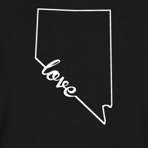 Nevada Love State Outline - Men's V-Neck T-Shirt by Canvas