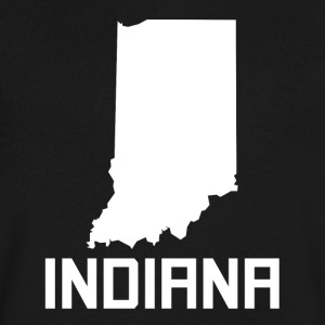 Indiana State Silhouette - Men's V-Neck T-Shirt by Canvas