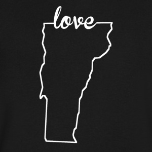 Vermont Love State Outline - Men's V-Neck T-Shirt by Canvas