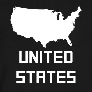 United States Of America Silhouette - Men's V-Neck T-Shirt by Canvas