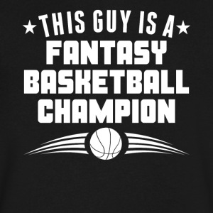 This Guy Is A Fantasy Basketball Champion - Men's V-Neck T-Shirt by Canvas