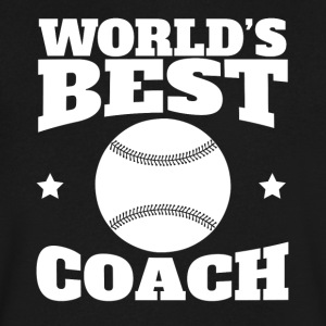 World's Best Baseball Softball Coach Graphic - Men's V-Neck T-Shirt by Canvas