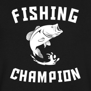 Fishing Champion Cool Bass Fishing - Men's V-Neck T-Shirt by Canvas