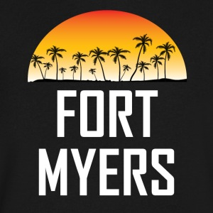 Fort Myers Florida Sunset Palm Trees Beach - Men's V-Neck T-Shirt by Canvas