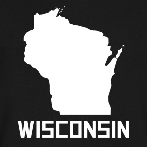 Wisconsin State Silhouette - Men's V-Neck T-Shirt by Canvas