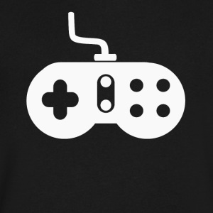 Retro Old School Video Game Controller Gaming - Men's V-Neck T-Shirt by Canvas