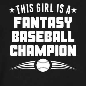 This Girl Is A Fantasy Baseball Champion - Men's V-Neck T-Shirt by Canvas