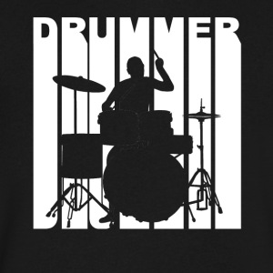 Vintage Style Drummer Silhouette Retro Music - Men's V-Neck T-Shirt by Canvas