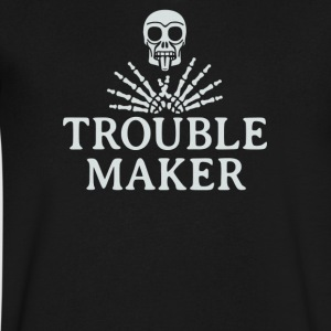 Troublemaker - Men's V-Neck T-Shirt by Canvas