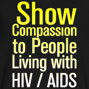 AIDS Awareness HIV AIDS - Men's V-Neck T-Shirt by Canvas