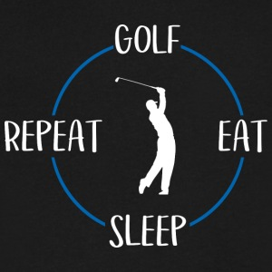 Golf, Eat, Sleep, Repeat - Men's V-Neck T-Shirt by Canvas