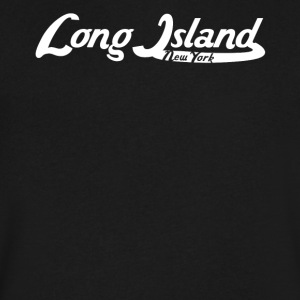 Long Island New York Vintage Logo - Men's V-Neck T-Shirt by Canvas