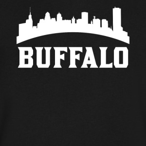 Vintage Style Skyline Of Buffalo NY - Men's V-Neck T-Shirt by Canvas