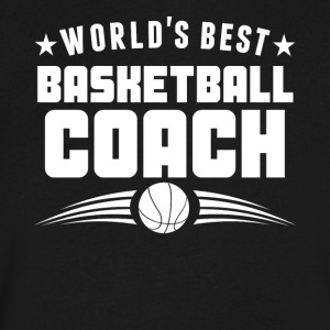 World's Best Basketball Coach - Men's V-Neck T-Shirt by Canvas