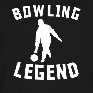 Bowling Legend Bowler Silhouette Cool Sports - Men's V-Neck T-Shirt by Canvas