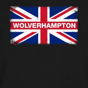 Wolverhampton Shirt Vintage United Kingdom Flag - Men's V-Neck T-Shirt by Canvas
