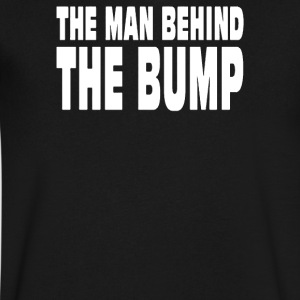 MAN BEHIND BUMP - Men's V-Neck T-Shirt by Canvas