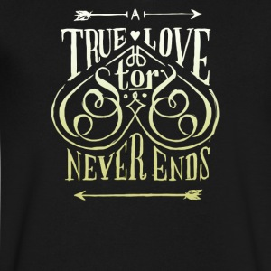 True love tor never ends - Men's V-Neck T-Shirt by Canvas