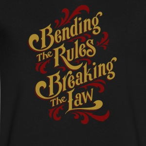 Bending the rules breaking the law - Men's V-Neck T-Shirt by Canvas
