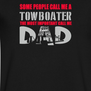 Some People Call Me Towboater The Most Important - Men's V-Neck T-Shirt by Canvas