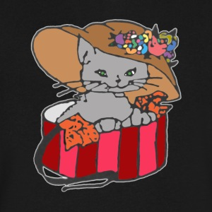 Cat in the Box a - Men's V-Neck T-Shirt by Canvas