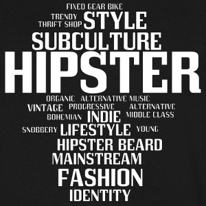 hipster - Men's V-Neck T-Shirt by Canvas