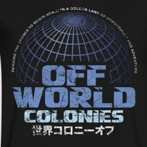 Off World Colonies - Men's V-Neck T-Shirt by Canvas