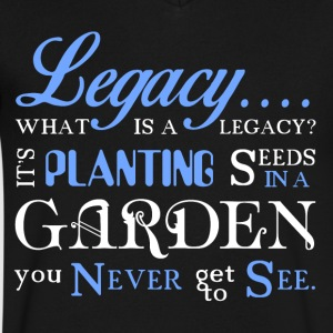 Legacy... - Men's V-Neck T-Shirt by Canvas