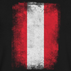 Austria Flag Proud Austrian Vintage Distressed - Men's V-Neck T-Shirt by Canvas