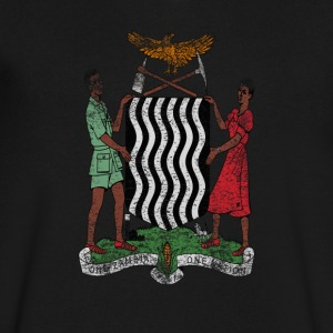 Zambian Coat of Arms Zambia Symbol - Men's V-Neck T-Shirt by Canvas