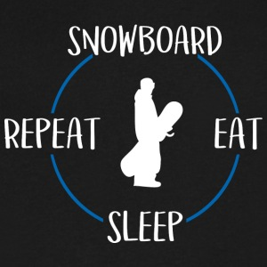 Snowboard, Eat, Sleep, Repeat - Men's V-Neck T-Shirt by Canvas