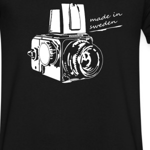 camera - Men's V-Neck T-Shirt by Canvas