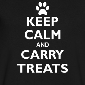 Keep Calm And Carry Treats Funny Dog Training Trai - Men's V-Neck T-Shirt by Canvas