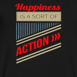 Happiness is a sort of action - Men's V-Neck T-Shirt by Canvas