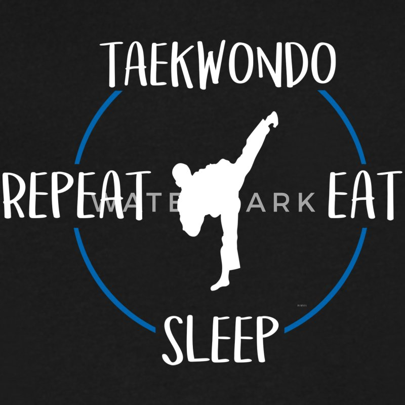 Taekwondo, Eat, Sleep, Repeat - Men's V-Neck T-Shirt by Canvas