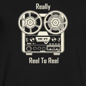 Really Reel To Reel - Men's V-Neck T-Shirt by Canvas