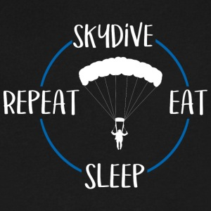 Skydive, Eat, Sleep, Repeat - Men's V-Neck T-Shirt by Canvas