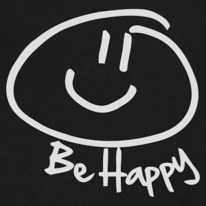 BE HAPPY SMILEY FACE - Men's V-Neck T-Shirt by Canvas